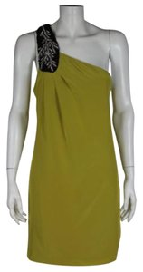 Tibi short dress Mustard Embellished Shift on Tradesy