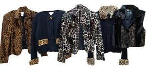 Animal Print Vintage 5 PIECES LEOPARD AND BLACK Jacket