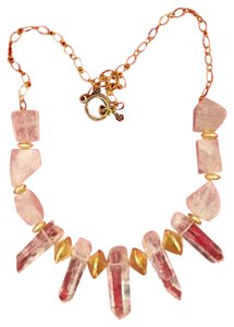 Stunning ONE of a KIND Statement Necklace with Clear Quartz