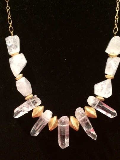 Other Stunning ONE of a KIND Statement Necklace with Clear Quartz