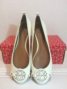 Tory Burch Miller Leather Ballet White Flats