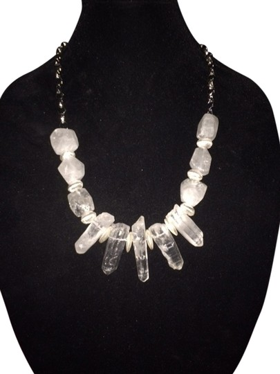 Other Stunning ONE Of A KIND Statement Necklace With Clear Quartz w/ Silver