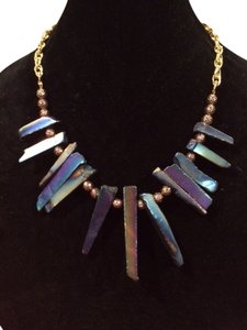 Stunning ONE Of A KIND Statement Necklace with Metallic Titanium Hematite Points