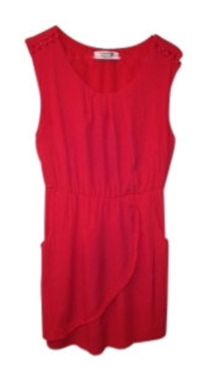 64f857cf214e Forever 21 Red Little Buttons Pockets Dress - 19% Off Retail well-wreapped