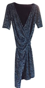 Ann Taylor Wrap Work Cocktail Knee-length Patterened Dress