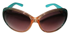 Juicy Couture JUICY COUTURE Twotone Coral Turquoise Sunglasses Side Rotating Details