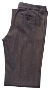 BCBGMAXAZRIA Trouser Pants Brown/Grey Pinstripe