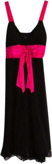 City Triangles short dress black with bright pink on Tradesy
