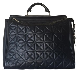 3.1 Phillip Lim Leather Structured Top Handle Satchel in Black