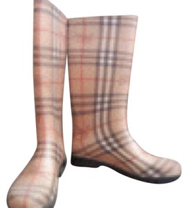 Burberry rain boots - 7 Beige, black, red Boots