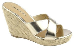 Classified Gold Sandals