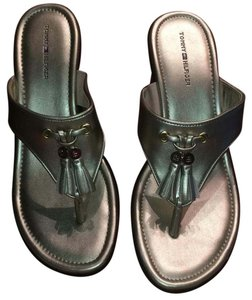 Tommy Hilfiger Gold Mules