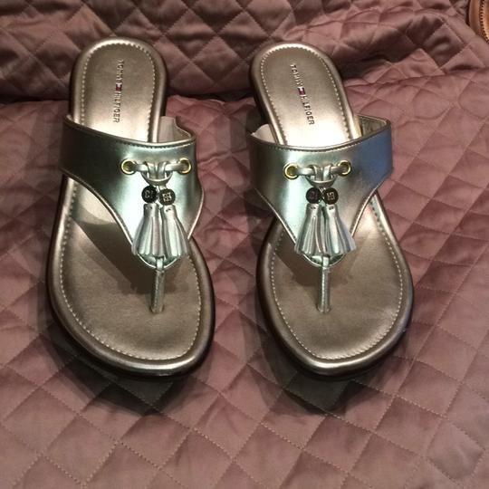 Tommy Hilfiger Gold Mules Image 1