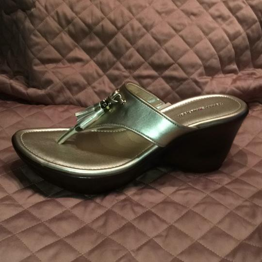 Tommy Hilfiger Gold Mules Image 3