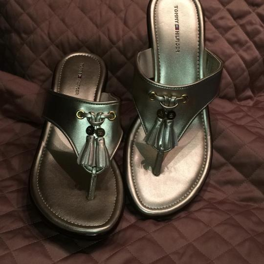 Tommy Hilfiger Gold Mules Image 4