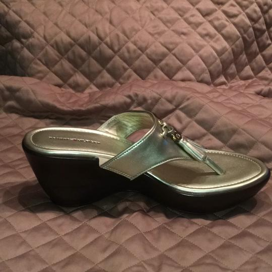 Tommy Hilfiger Gold Mules Image 6