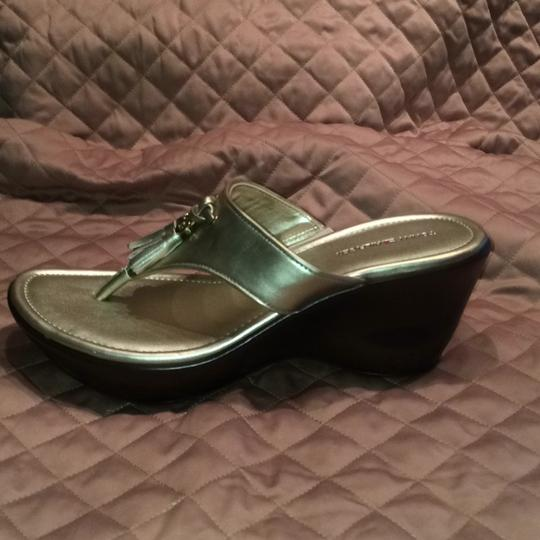 Tommy Hilfiger Gold Mules Image 7