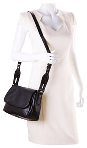 French Connection Crossbody Leather-like Feel Classic Style Adjustable Saddle Shoulder Bag