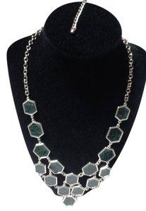 Hexagon statement necklace
