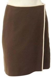 Prada Brown Wool Mini Skirt
