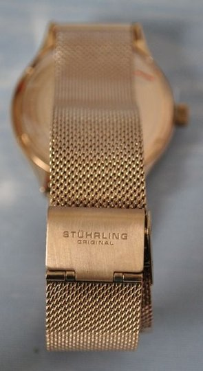 Stührling Unisex Eagle Elite Rose Gold Watch