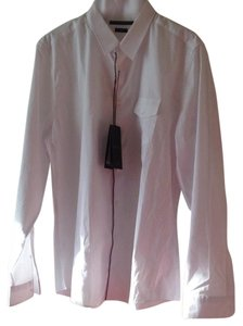 Gucci Button Down Shirt White with Red/Green Trim