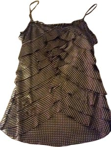 Joie Silk Night Out Date Night Polka Dot Top Brown