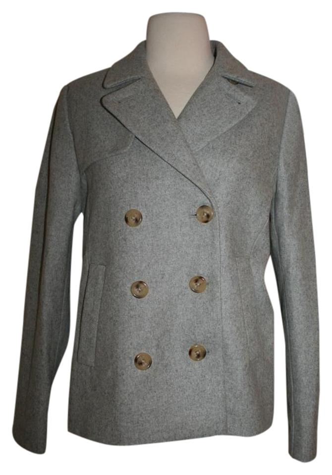 a06745c860c J.Crew Heather Dove Wool Melton Coat Size 4 (S) - Tradesy