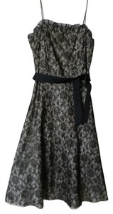 City Triangles Lace Tea Length Strappy Dress