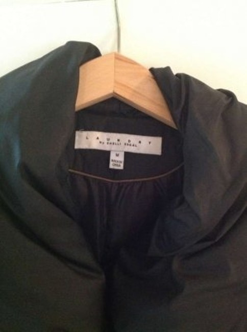 Laundry by Shelli Segal Down Jacket Shawl Collar Belted Coat