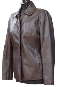 Caslon Leather brown Leather Jacket