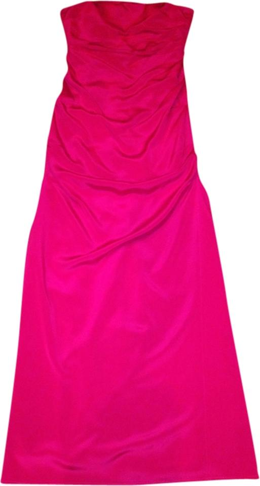 Nicole Miller Red Long Formal Dress Size 4 S Tradesy