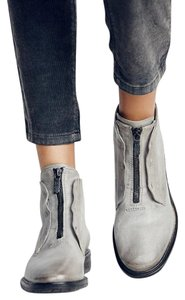 A.S. 98 Edison Ankle Leather Free People Size 7 / Eu 38 Grey Boots