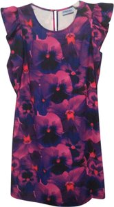 Cynthia Rowley Pansy Floral Keyhole Dress