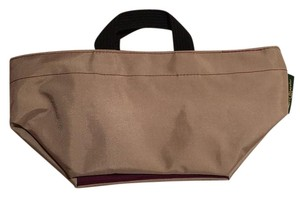 Herve Chapelier Tote in Tan With Deep Wine Trim