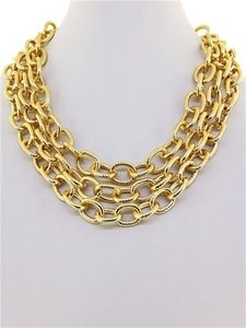 Other Chunky Layered Gold Chain Necklace