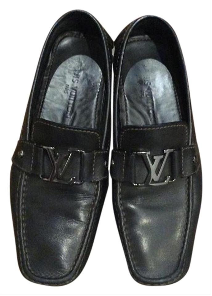 37d0dddd94a5 Louis Vuitton Brown Monte Carlo Moccasin Flats Size US 8.5 - Tradesy