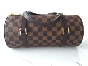 Louis Vuitton Papillon Tootsie Roll Satchel in damier ebene