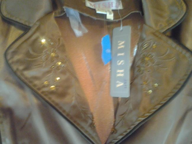 Misha Misha Bronze Womens Jacket or Top with Embroidery & Sequins Image 7