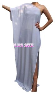 White Maxi Dress by Other Maxi Plus Size Gown One Shoulder Curvy