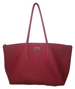 Lacoste Handbag Tote in Red