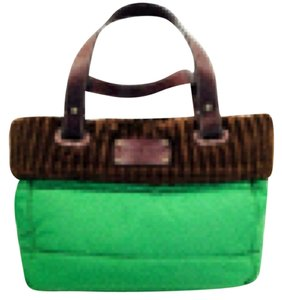 Kate Spade Tote in Kelly Green And Brown