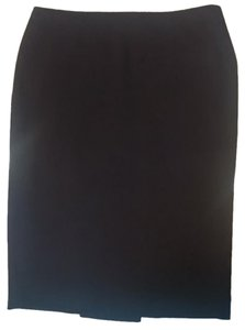 fashionista Pleated Exposed Zipper Pencil Skirt Black