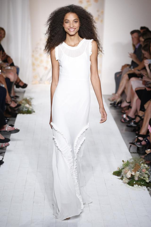 Lc Lauren Conrad White Runway Collection Tiered Ruffle Maxi Long