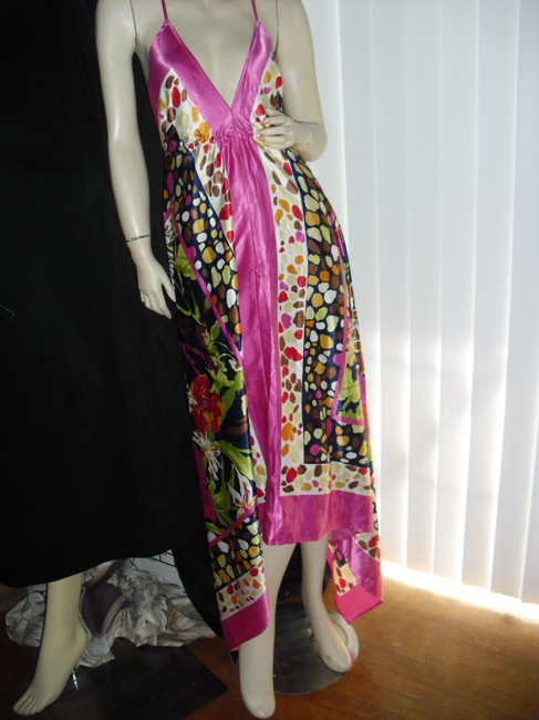 rose pink Maxi Dress by Scarf Dress Image 1