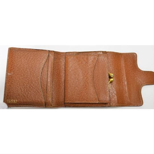 Gucci [Authentic] GUCCI Leather 035 661 Fold wallet Image 2