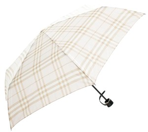 Burberry Pale pink, tan multicolor nylon Burberry Nova Check print umbrella