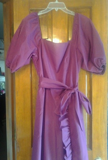 Plum Polyester Jc Penney Formal Bridesmaid/Mob Dress Size 12 (L)