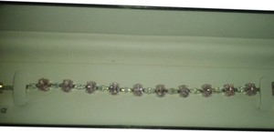 Sterling Silver Bracelet with Pink & White CZ 24-5/8 total carat weight 925 SS