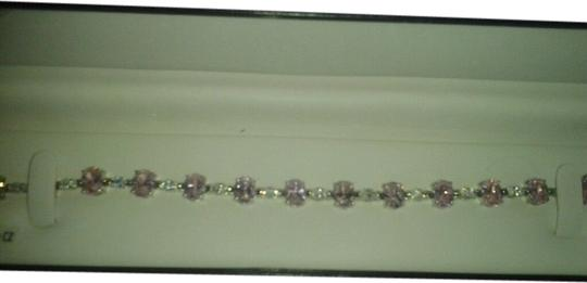 Preload https://img-static.tradesy.com/item/1560589/pink-sterling-silver-with-and-white-cz-24-58-total-carat-weight-925-ss-bracelet-0-0-540-540.jpg